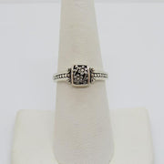 925 silver Vintage Sterling Silver Flowers Band Ring