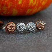 925 silver Pumpkin ring - Halloween jewelry - Halloween ring - Sterling silver Pumpkin ring - Jack O Lantern ring