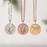 Hand Gesture Necklace - Engrave Hand Sign Necklace - Pinky Promise - Personalized Gifts - Best Friend Gifts - CHRISTMAS STUFFERS GIFTS