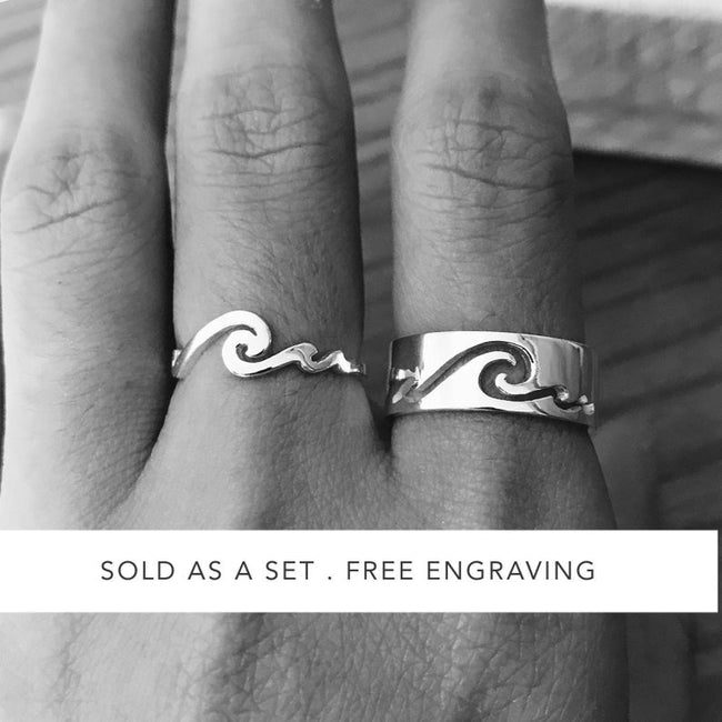 Couple Rings 925 Silver Promise Ring Set His and Hers Matching Ring Couple Ring Promise Rings For Couples  Girlfriend Boyfriend Silver Wedding Bands Set BFL