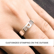 Heart Promise Ring For Him Mens Promise Ring Long Distance Boyfriend Gift Personalized Rings Gift For Men