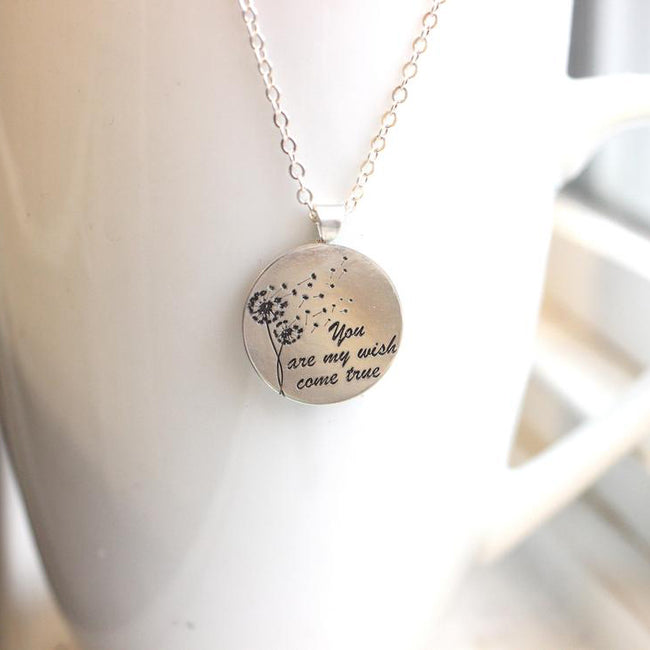 925 Sterling Silver Silver Dandelion Necklace Gold Dandelion Necklace Dandelion Ring Make a Wish
