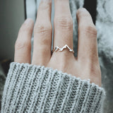 Mountain Range Ring, Mountain Ring, Mountain Jewelry, Nature Ring, Dainty Ring, Outdoor Gift for Sister Friend Daughter Girlfriend
