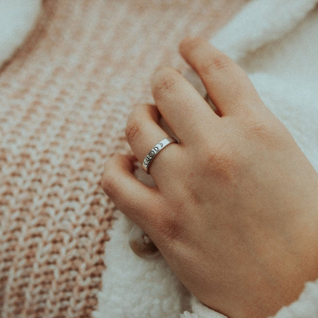 Moon Phase Ring, Moon Ring, Dainty Ring, Minimalist Ring, Boho Rings For Women, Celestial Jewelry