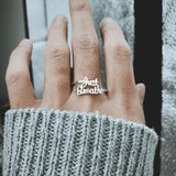 Fashion 925 Silver I Am Enough Just Breathe Ring Inspirational Ring