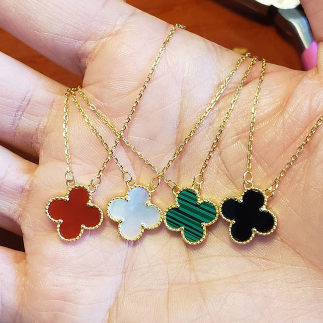 four leaf clover pendant in various colors