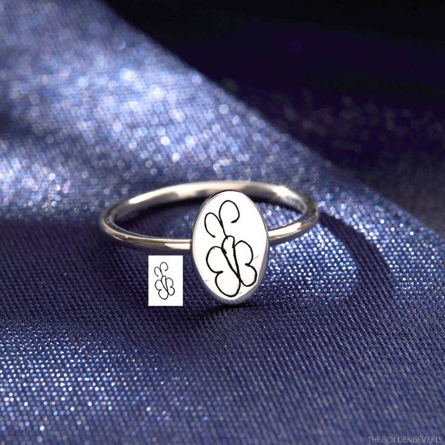 Engraved Handwriting Ring Custom Handwriting Ring Personalized Handwriting Jewelry Kid Drawing Ring