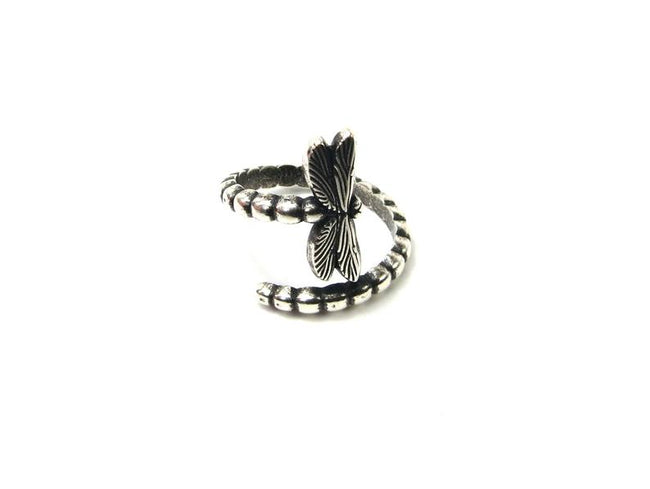 Dragonfly Ring, Adjustable Dragonfly Ring, 925 Sterling Silver Ring