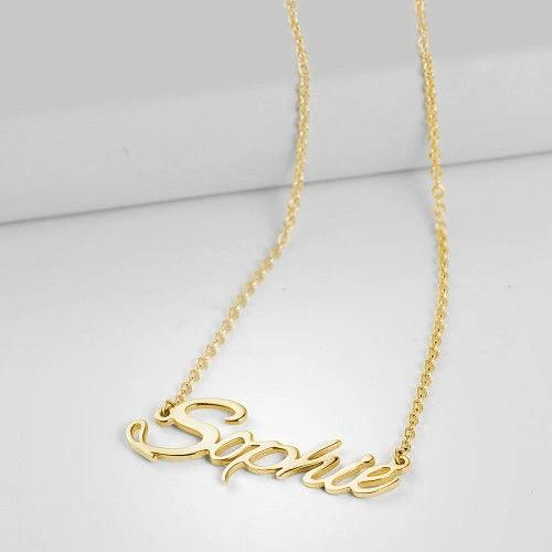 Personalized Name Necklace Custom Jewelry Special Gift name Necklace enjoy life creative
