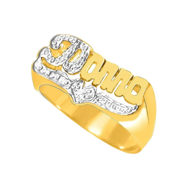 925 silver PERSONALIZED SCRIPT NAME RING