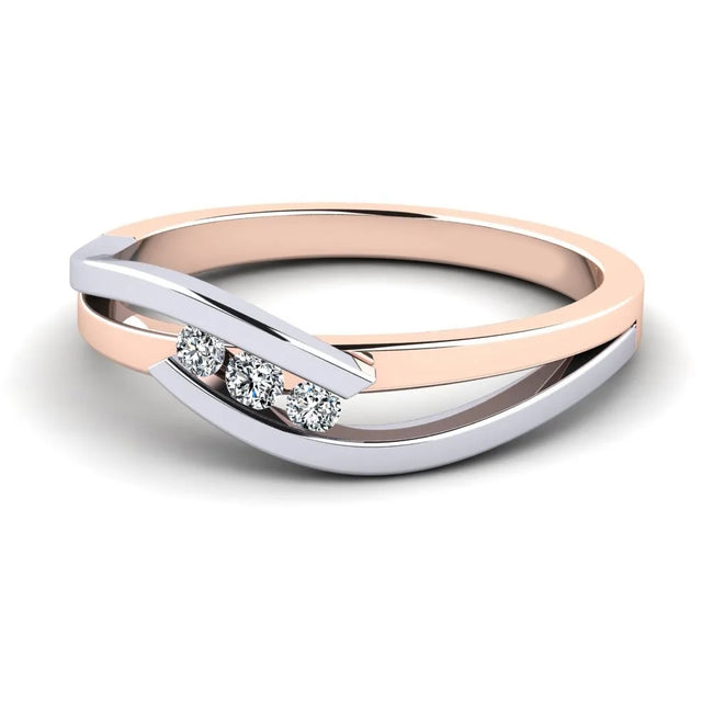 Ring Gratia In 925 Sterling Silver With Rose Gold Plated