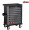 Black 8-drawer trolley with 370pc tools (EVA)