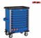 Blue 8-drawer trolley with 370pc tools (EVA)
