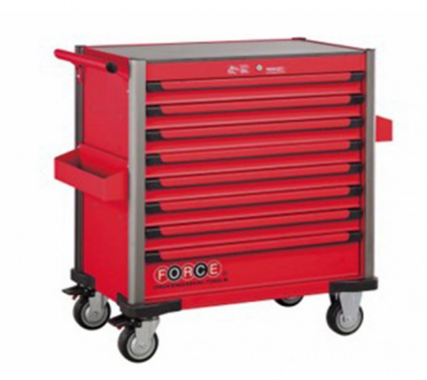 Red 8-drawer jumbo trolley with 437pcs tools