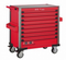 Red 8-drawer jumbo trolley with 607pcs tools (EVA)