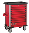 Red 8-drawer trolley with 219pc tools