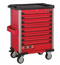 Red 8-drawer trolley with 286pc tools