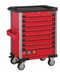 Red 8-drawer trolley with 308pc tools (EVA)