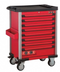 Red 8-drawer trolley with 326pc tools (EVA)