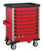 Red 8-drawer trolley with 376pc tools
