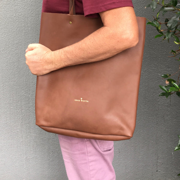 GW4 Basic Tote Bag Coffee Brown
