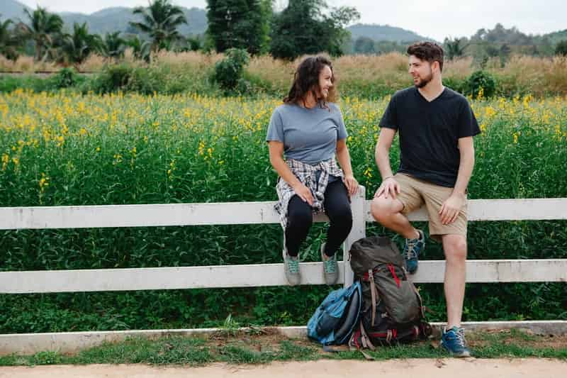 Couple keeping their relationship fresh by going for a hike