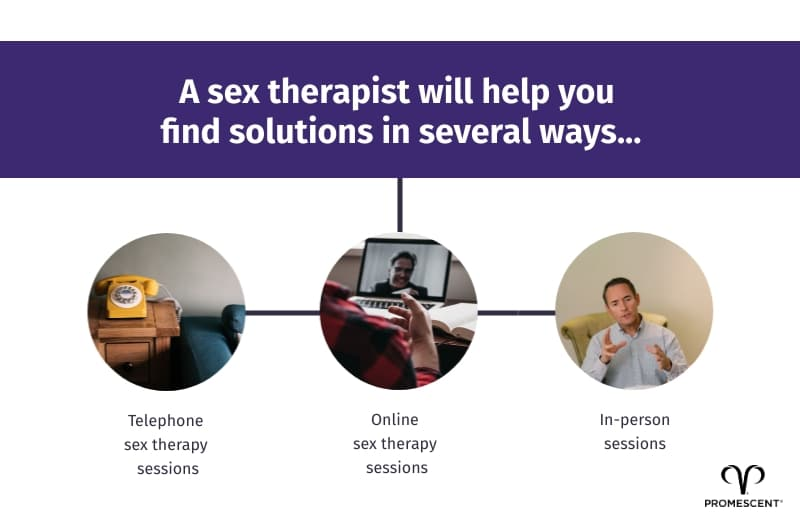 Find solutions with a sex therapist