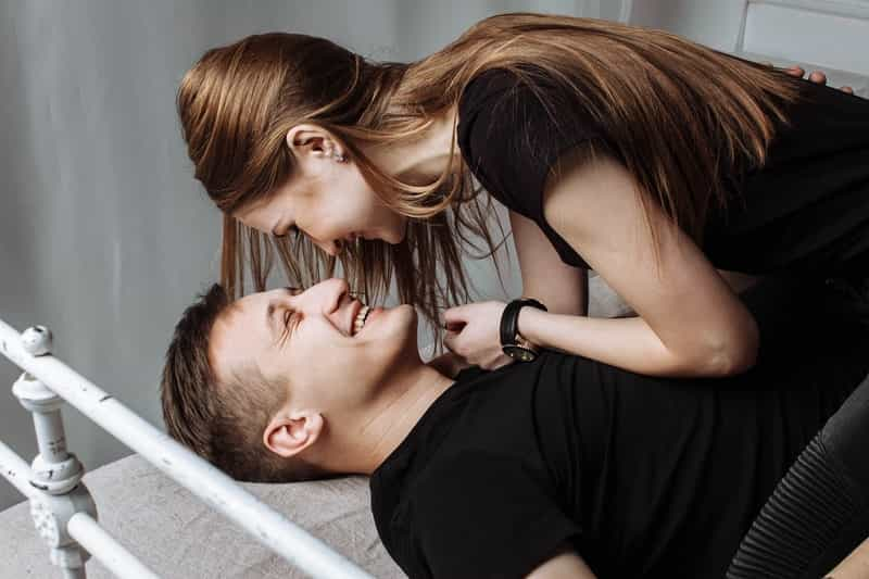 Happy couple after lidocaine spray fixed premature ejaculation