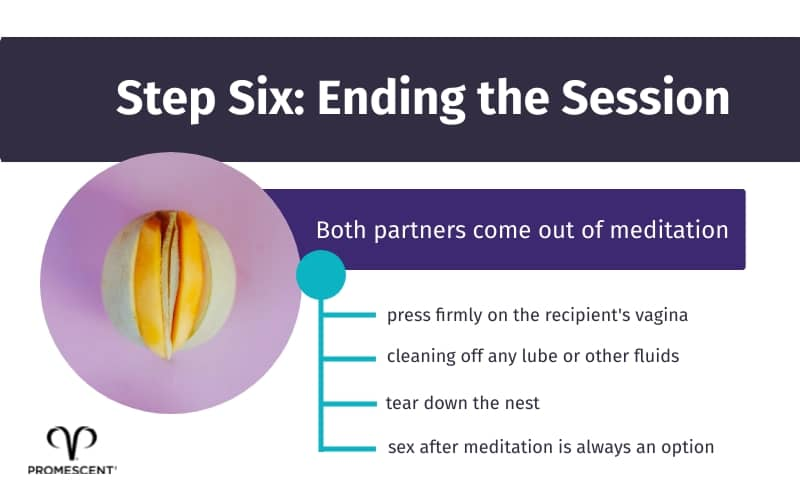 How to end orgasmic meditation session