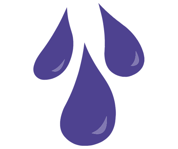 Water droplet icon symbolizing reduced friction when using lubes for masturbation or sex.