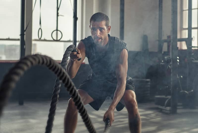 Man exercising to help increase blood flow to the penis