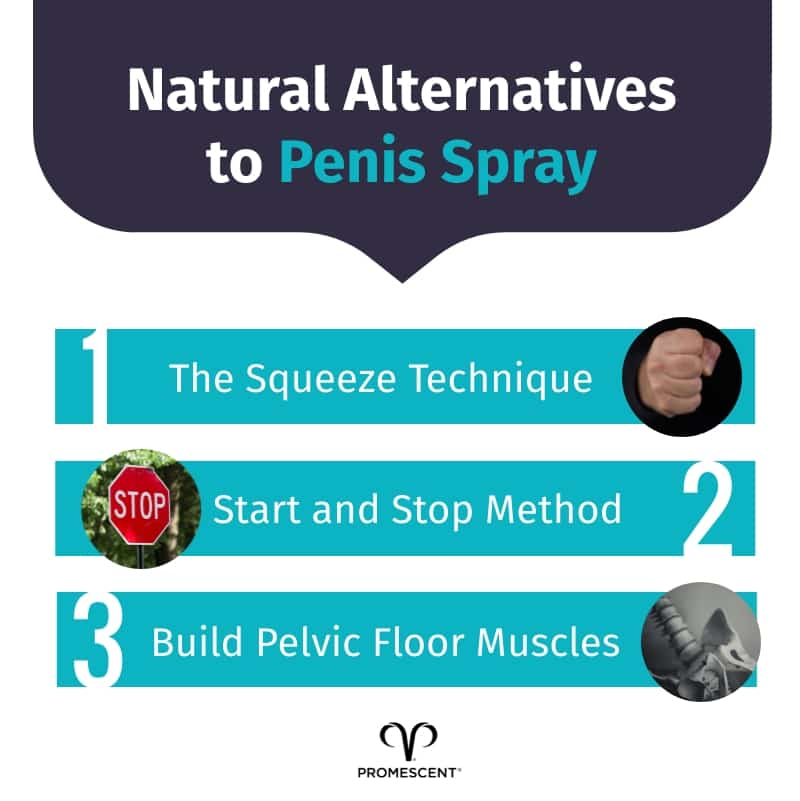 Natural alternatives to penis numbing spray