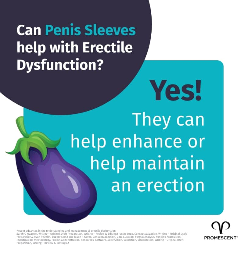 Penis sleeves help with erectile dysfunction and premature ejaculation