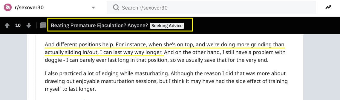 Sex positions discussion Reddit