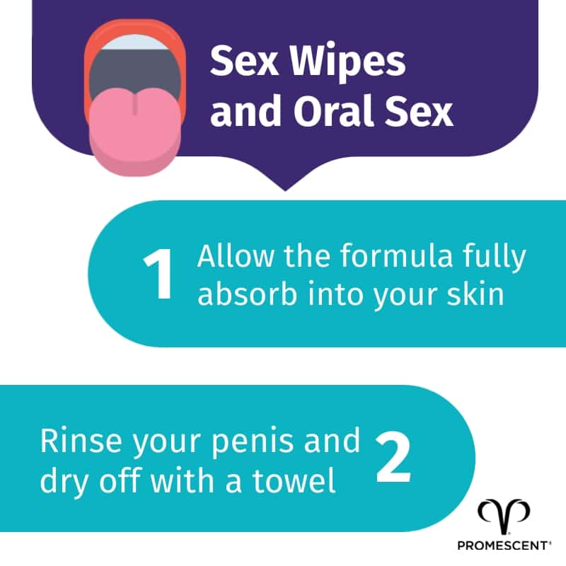 Sex wipes and oral sex