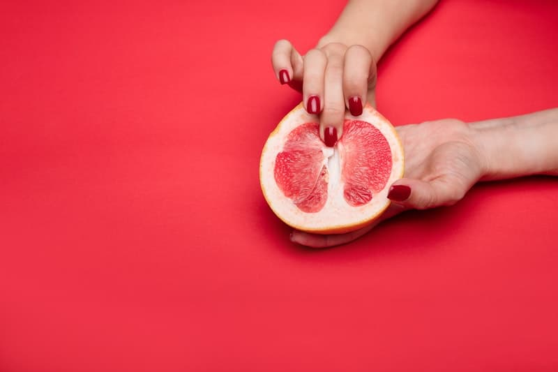 Sexual demonstration with fruit