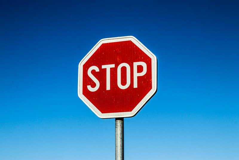 The start stop method being represented by stop sign