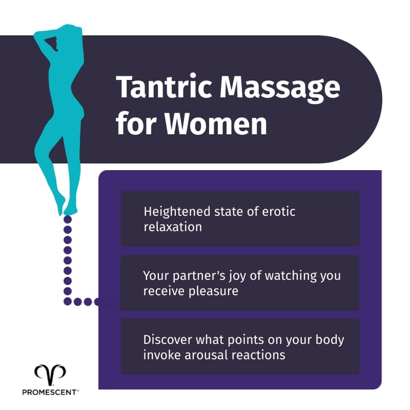 Instructions for women receiving a tantric massage