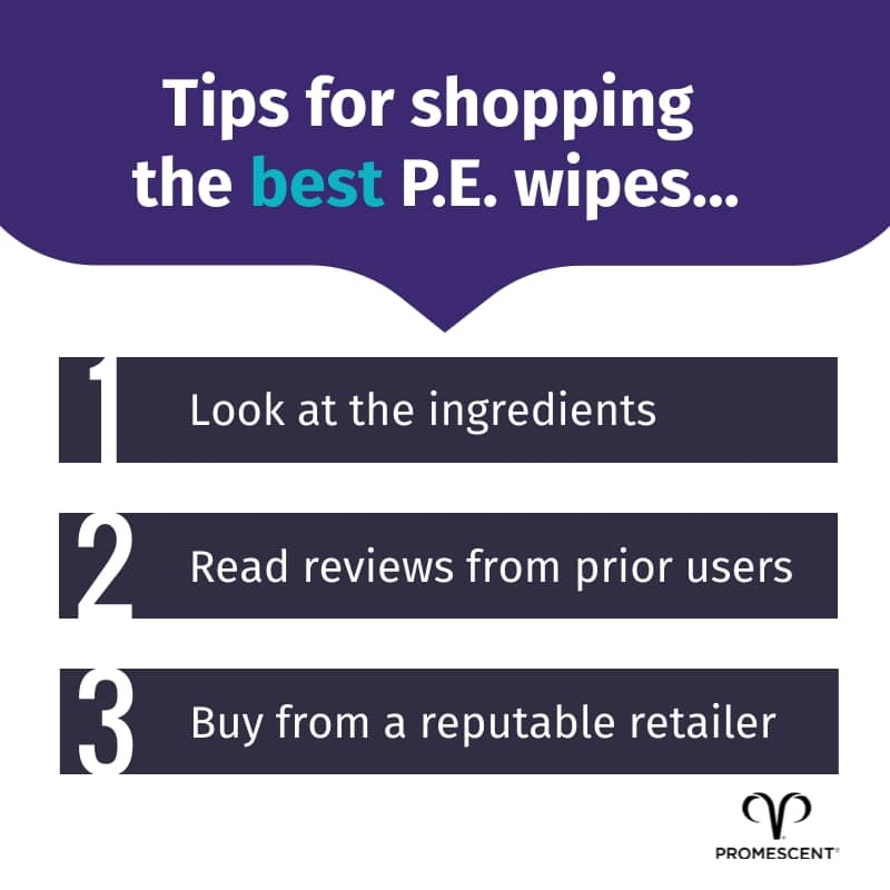 Tips for purchasing sex wipes for premature ejaculation