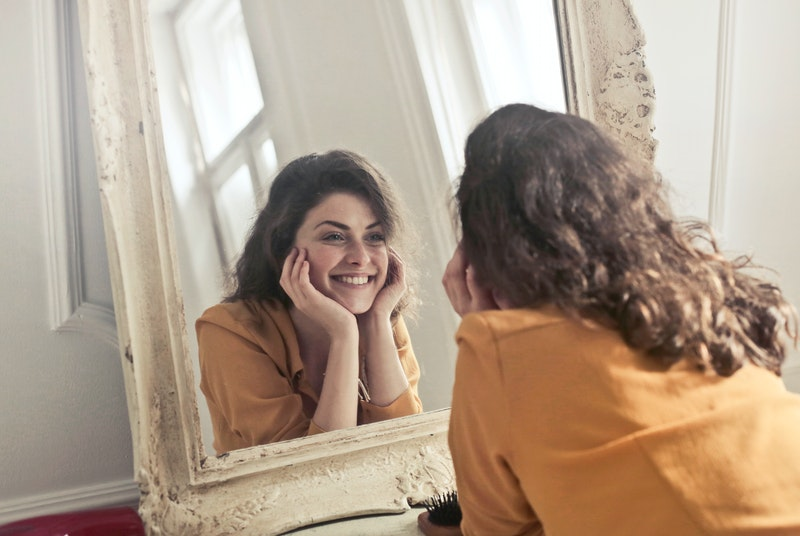 Woman happy after listening to relationship advice