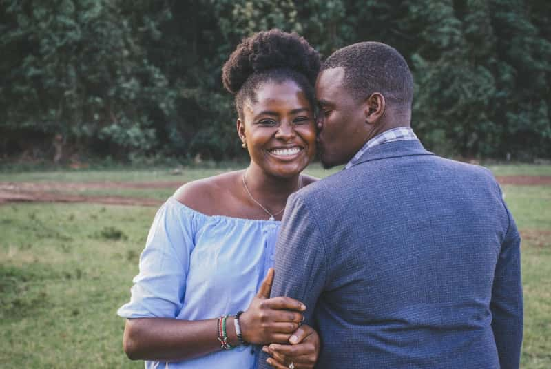 Woman in happy relationship after listening to relationship advice