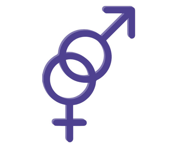 Male and female symbol for VitaFLUX
