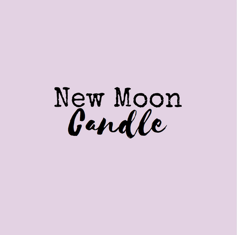 New Moon Intention Candle
