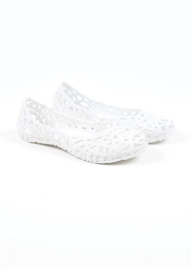 Belle and Beans Jelly Shoe - Great White
