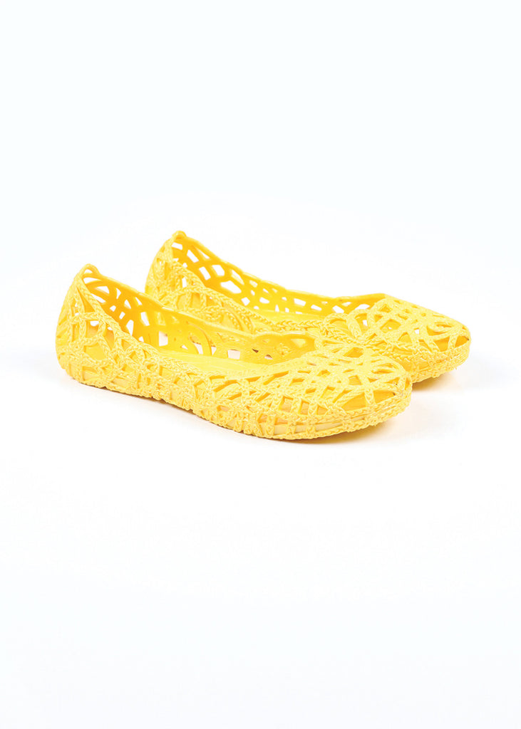 Belle and Beans Jelly Shoes - Yellow Submarine