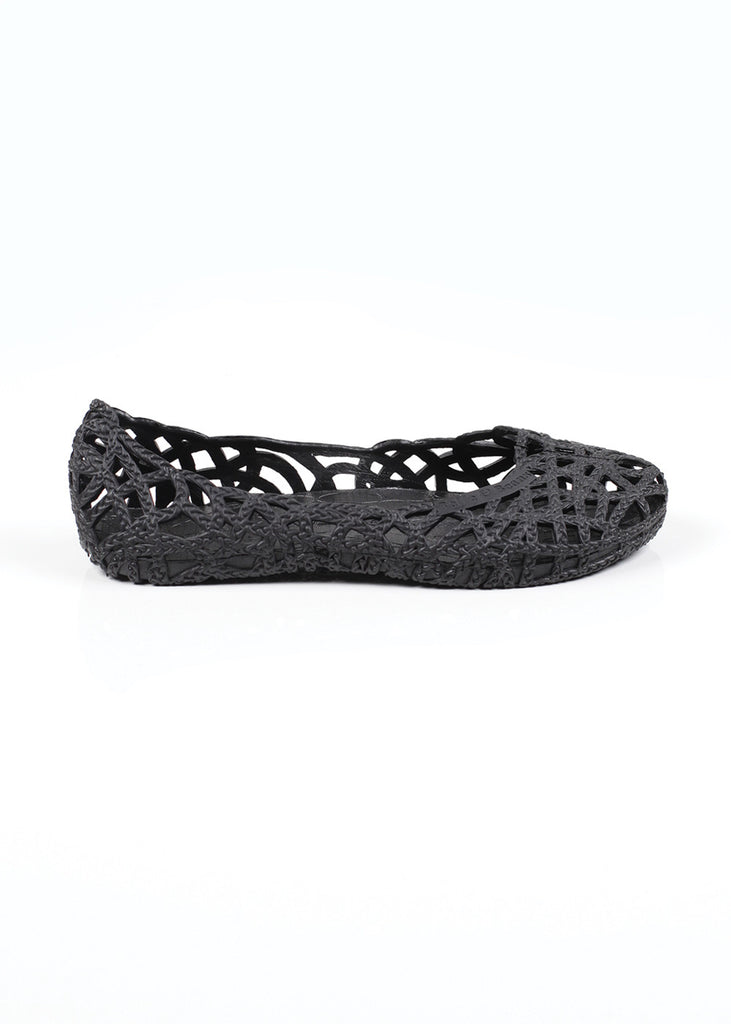 Belle and Beans Jelly Shoe - Jet Black - Side