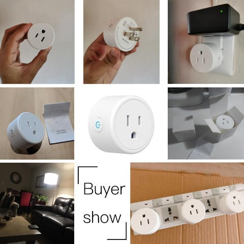Smart Plug Compatible With Alexa Google Assistance For Voice Control With Wifi Plug