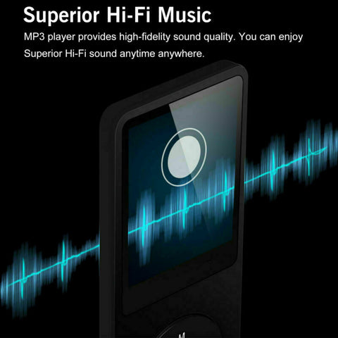 Portable MP3 Player 1.8'' LCD Screen Music Player with FM Radio