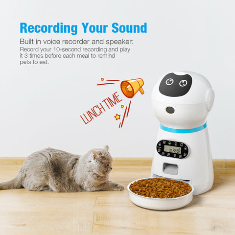 Automatic Cat Feeder Smart Dog Feeder With Voice Control