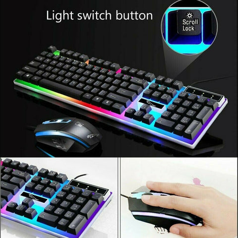 Waterproof LED Gaming keyboard And Mouse Wired Gaming Keyboard Mouse Set